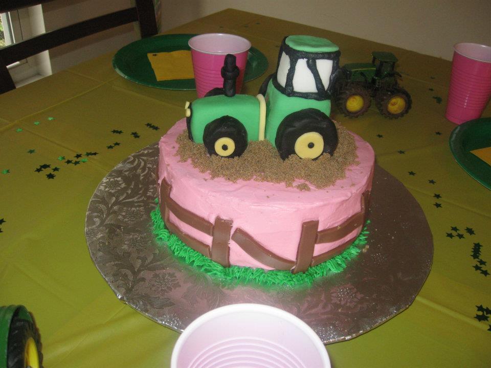 Super John Deere Birthday Cake K Town Cakes Personalised Birthday Cards Veneteletsinfo