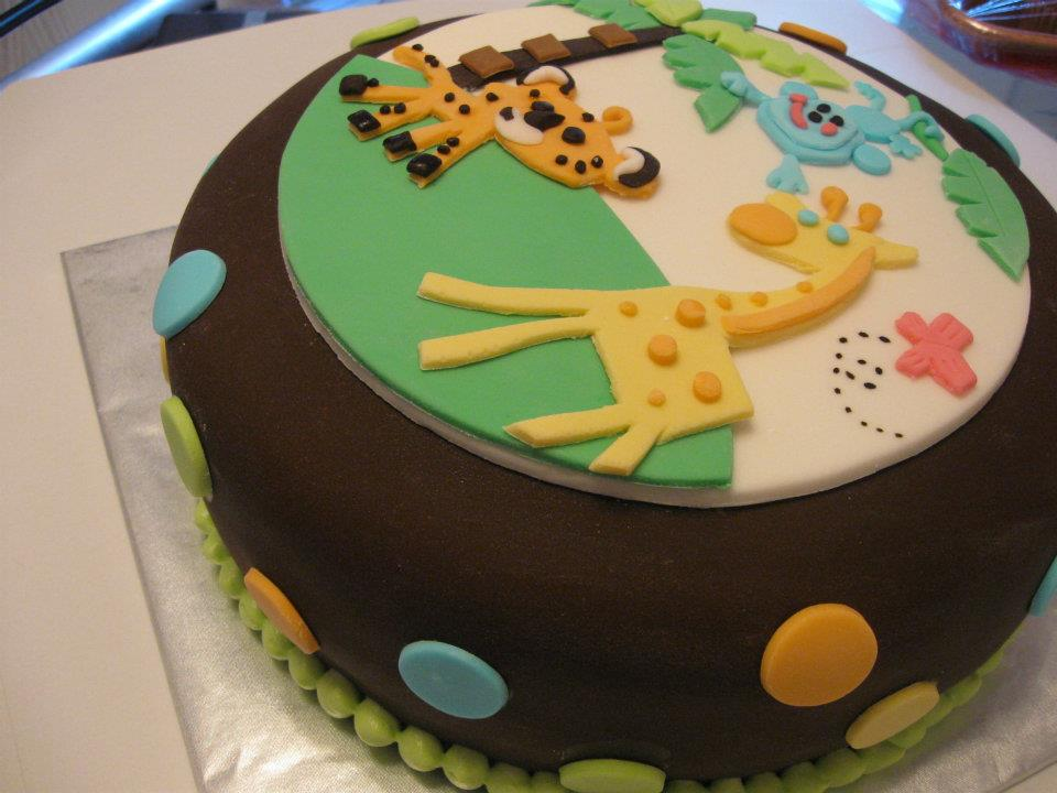 Childs Zoo Animal Themed Birthday Cake Advertisements