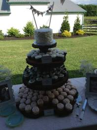 Cupcake Extravaganza with Wedding Topper